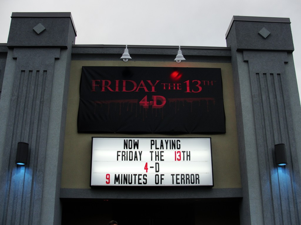 Friday the 13th 4D Marquee