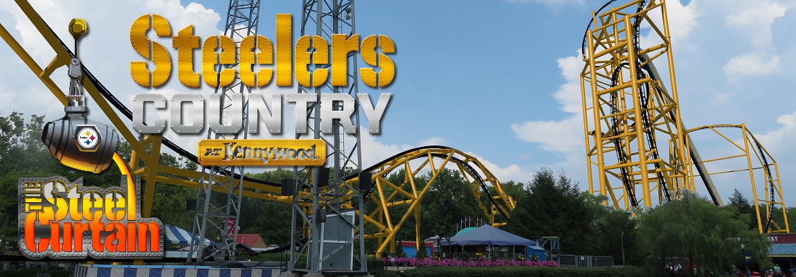 NEW in 2019: Steel Curtain Roller Coaster and Steelers Country Themed Area!